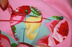 Flower tee tutorial - blanket stitch 3